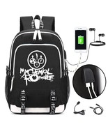 My Chemical Romance Punk band Backpack with USB Charging Port and Lock &... - $42.33