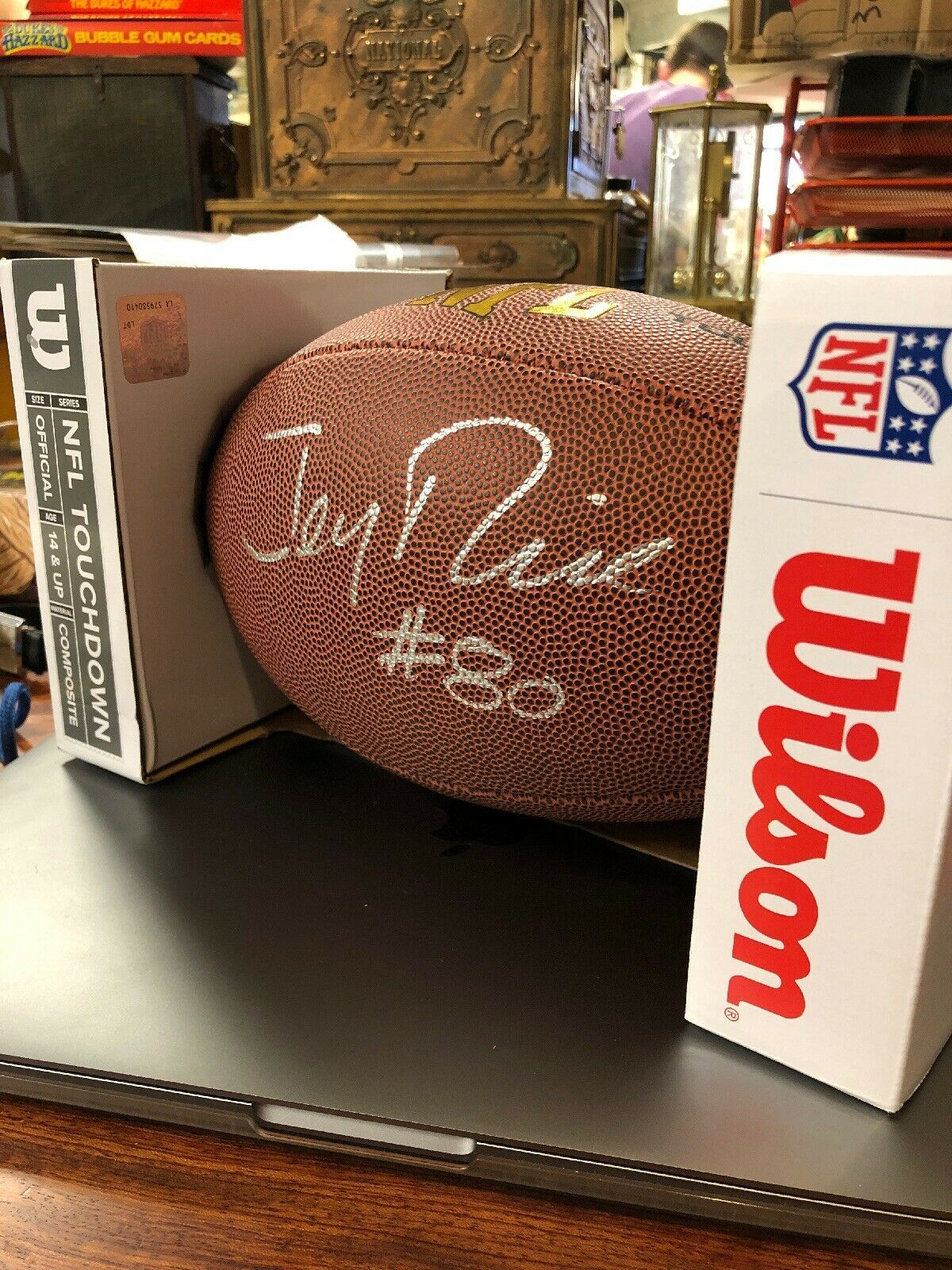 2c5d68fa3 Jerry Rice -- 49ers AUTOGRAPHED Wilson Football -- Gand Signed- Balls