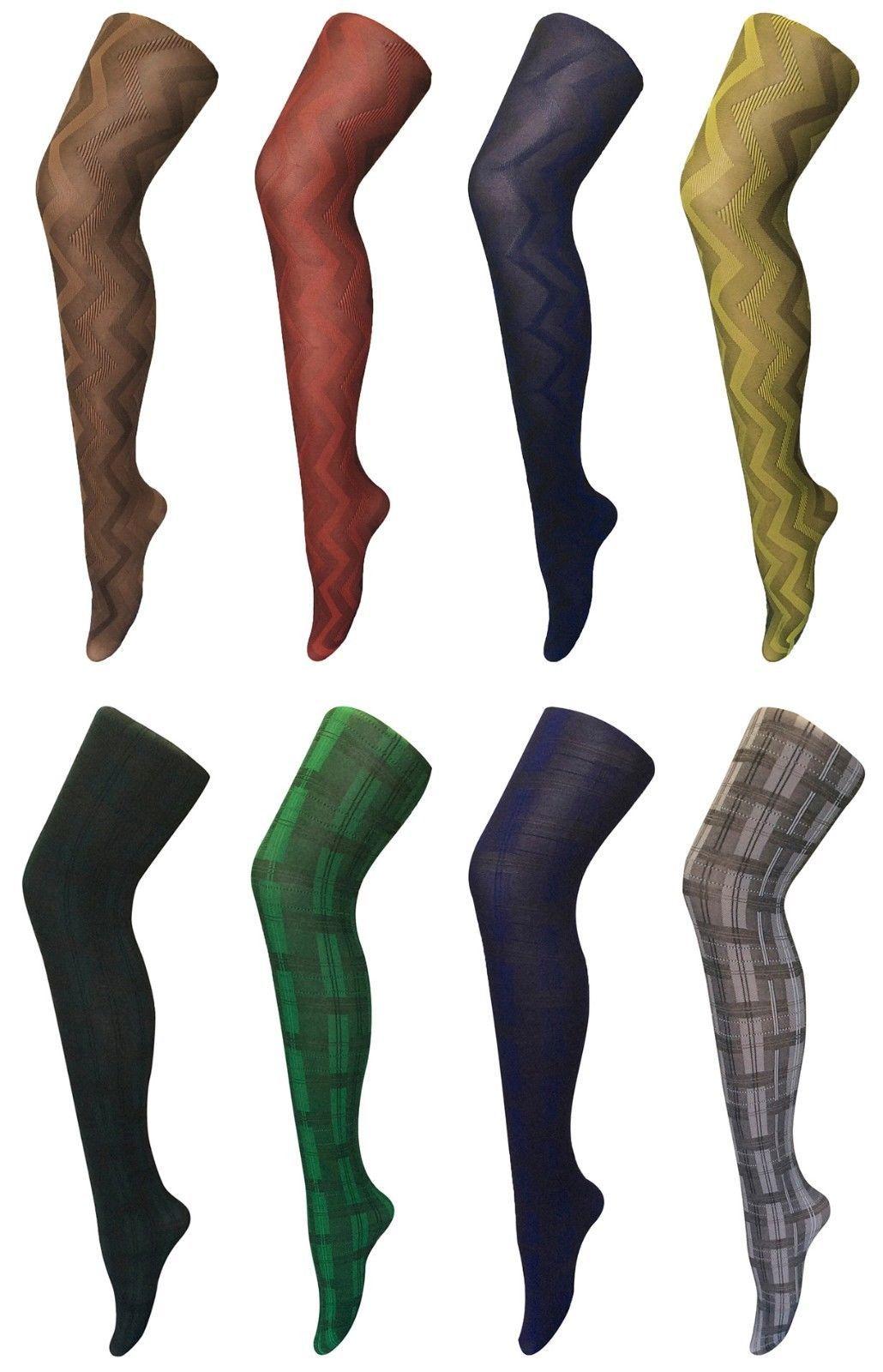 Sock Snob - Damen undurchsichtig gemustert farbig winter 80 denier strumpfhose