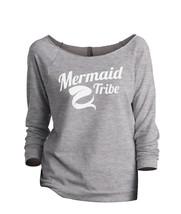 Thread Tank Mermaid Tribe Women's Slouchy 3/4 Sleeves Raglan Sweatshirt Sport Gr - $24.99+
