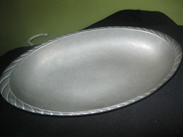 WILTON PEWTER 11 IN OVAL TRAY` VERY NICE - $8.90