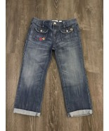 Old Navy Size 16 Cropped Jeans with Embroidered Details - $18.99