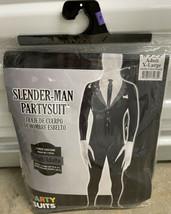 Slender-Man Partysuit Adult XL Halloween Costume Skin New Black & White - $34.99