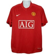 Manchester United Cristiano Ronaldo Nike Fit Dry Jersey Size L Red Socce... - $98.99