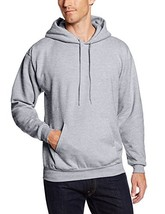 Hanes mens Pullover Ecosmart Fleece Hooded SweatshirtLight SteelMedium - $21.99