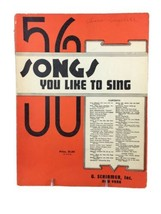 Vintage 56 Songs You Like To Sing - G. Shirmer Inc. Choral Voice Sheet M... - $14.80