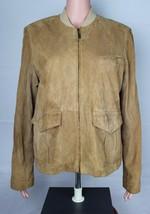 Cole Haan country women's goatskin jacket zipper front camel size L - $58.78
