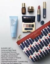 ESTEE LAUDER 7pc Makeup Skin Care Gift Bag Eyeshadow Lipstick Mascara $135 GWP - $39.99
