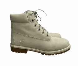 "Timberland 6"" Premium Waterproof Boots Angora Women 9 M Big Kid 7 M - $91.99"
