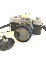 Minolta SRT101 camera w/MC Rokkor X PF 50mm f1.7 Shutter Tested VG Condi... - $49.49