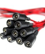 CCTV Security Camera DC Female Power Plug Pigtail Cable (20 Pack) - $12.99