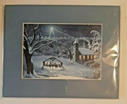 """Vintage 1995 """"Cradle to the Cross"""" Art Print by T. Morgan Crain Matted 8... - $28.04"""