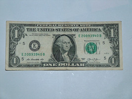 2013 $1 Dollar Bill US Bank Note Date Year Birthday 2009 3940 Fancy Mone... - $14.83
