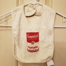 "Organic by Rabbit Skins Cotton Campbell's Soup Can Bib 14"" x 9"" NEW - $8.59"
