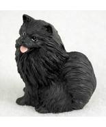 POMERANIAN BLACK  TINY ONES DOG Figurine Statue Resin Pet Lovers - $9.99