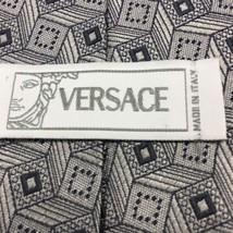 GIANNI VERSACE 100% Silver Grey Silk Tie Neckti... - $42.08