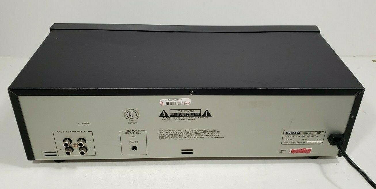 TEAC Stereo Double Cassette Deck W-410..Tested image 10