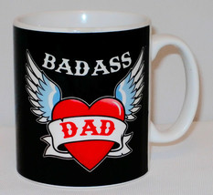 Badass Dad Mug Can PERSONALISE Great Father's Day Tea Cup Biker Bad Funn... - $9.95