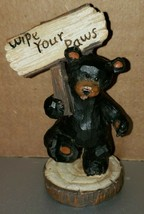 """'Wipe Your Paws' Black Bear 4"""" What Knot Ornament Decoration - $5.85"""