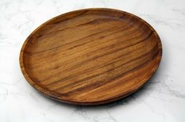 Songwon Round Wooden Plate Platter Serving Dish Bowl 7.8 inches (2 Counts) image 3