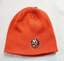 NEW YORK ISLANDERS KNIT BEANIE HAT CLASSIC CUFFLESS SKI CAP TOQUE NHL NE... - $12.49