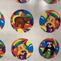 Vintage Lisa Frank Complete S106 Sticker Sheet Bears Rainbow 12 Sticker Mods image 3