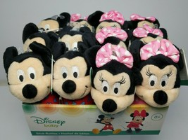 "Mickey Mouse and Minnie Mouse Stick Rattles 12 ""Disney Baby"" New w/Tags   - $42.09"
