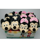 """Mickey Mouse and Minnie Mouse Stick Rattles 12 """"Disney Baby"""" New w/Tags   - $42.09"""