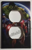 Captain America Iron Man Hulk Comic Hero Light Switch Outlet Cover Plate decor image 3