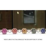 11.00 Carat Rainbow Sapphire Bracelet in 925 Sterling Silver  WATCH VIDEO - $899.00