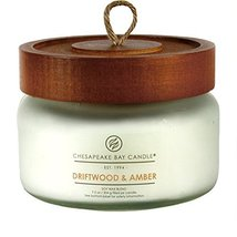 Chesapeake Bay Candle Scented Candle, Driftwood & Amber, Small Jar - $30.65