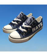 Tampa bay devil rays shoes womens d rays sneakers baseball fashion canva... - $59.99+
