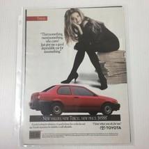 Vintage Print Ad 1991 Toyota Tercel Red Car Automobile Advertisement - $7.68
