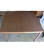 Mid-Century Walter of Wabash Formica Dining Room Table with Two Leaves -... - $445.49