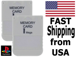 Two PS1 Memory Cards (Sony Playstation) - FAST Shipping From USA - $9.99
