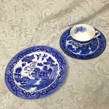Vintage, Flair-Japan, 3-pc Blue Willow Trio Tea-Dinner Set - $23.70
