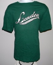 MENS GAP LONDON ENGLAND ATHLETIC T SHIRT XLARGE TEA TREE GREEN COTTON - $14.56