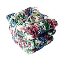 Handmade Kitchen Dishcloths Blue White Purple Country Shabby Chic Eco Fr... - $18.75