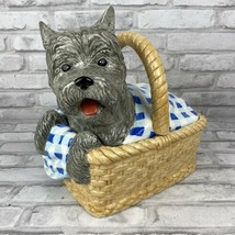 Enesco Wizard Of Oz Dorothy's Dog Toto In Basket Cookie Jar W/Lid Large ... - $160.84