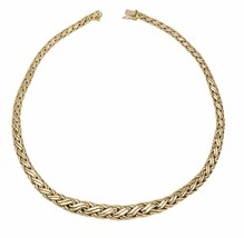 "Women's Vintage Estate Tiffany & Co. 14k 585 Yellow Gold Woven 16.00"" Necklace - $2,099.02"