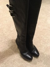 COLE HAAN Womens Black Leather Tall Knee High Boot women's size 6 - $93.49