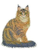 Amazing Custom Cat Portraits[Maine coon Cat] Embroidered Iron On/Sew pat... - €8,51 EUR