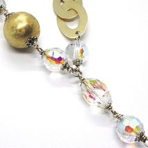 SILVER 925 NECKLACE, YELLOW, DROP AGATE WHITE BIG, OVALS SATIN image 4