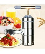 Manual Stainless Steel Noodle Maker Press Pasta Machine Crank Cutter Fruits - $37.61