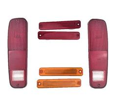 A-Team Performance 6pc Tail Light and Side Fender Kit Compatible With 73-79 FORD