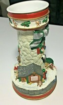 """""""Filling Santa's Sack"""" by Cheryl Spencer Lighthouses of Christmas Candle... - $22.44"""