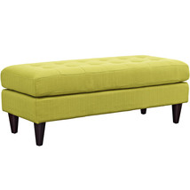 Empress Upholstered Fabric Bench in Wheatgrass - $189.38