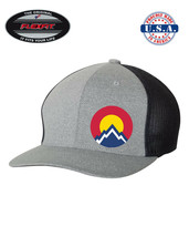 COLORADO Rocky Mountain Trucker Cap FLEXFIT HAT *FREE SHIPPING in BOX* - $19.99