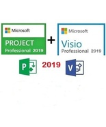 Microsoft Visio + Project Professional 2019 Pack-Qty.2 Keys for 1PC - $24.99