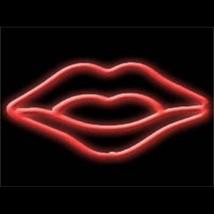 """Neon Hot Lips Sculpture Wall Bar Sign  9"""" x 14"""" - $89.99"""